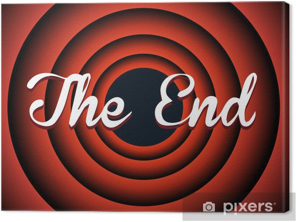 The end typography Canvas Print - Themes