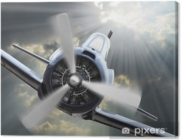 The Fighter. Retro technology theme. Canvas Print - Themes