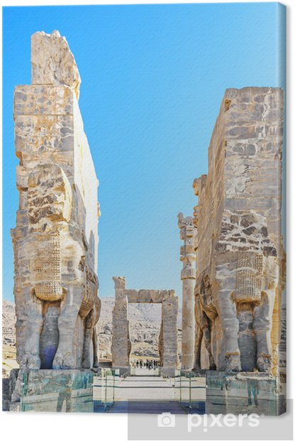 The Gate Of All Nations In Persepolis Shiraz Iran Canvas Print Pixers We Live To Change