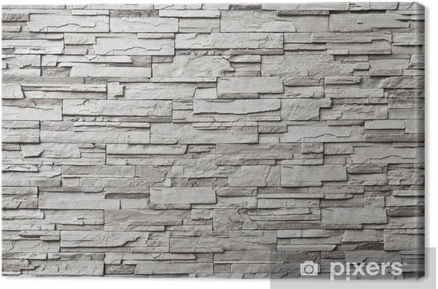 The gray modern stone wall Canvas Print - Styles