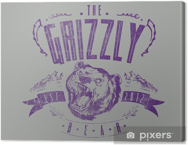 The Grizzly bear Canvas Print - Signs and Symbols