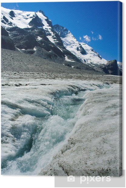 The Grossglockner glacier in Alps, Austria Canvas Print - Mountains