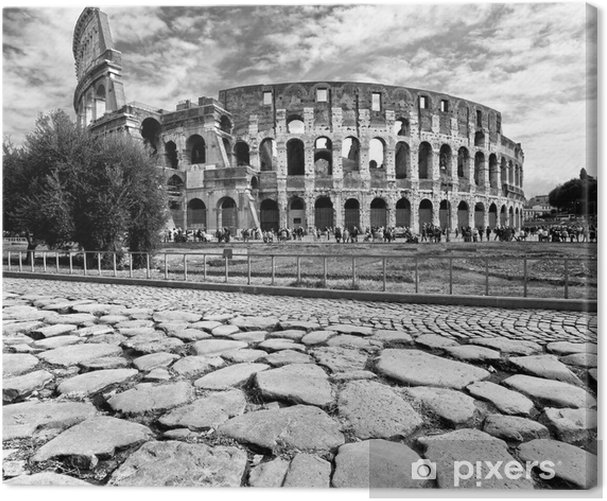 The Majestic Coliseum, Rome, Italy. Canvas Print - Italy