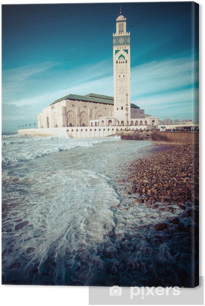 The Mosque of Hassan II in Casablanca, Africa Canvas Print - Themes