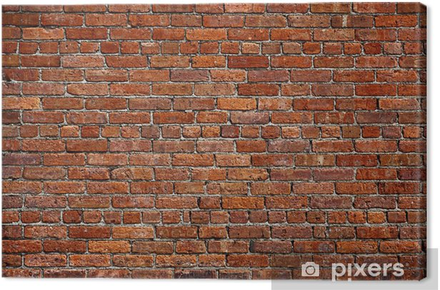 the old red brick wall Canvas Print - Themes