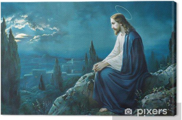 The prayer of Jesus in the Gethsemane garden. Canvas Print - Themes