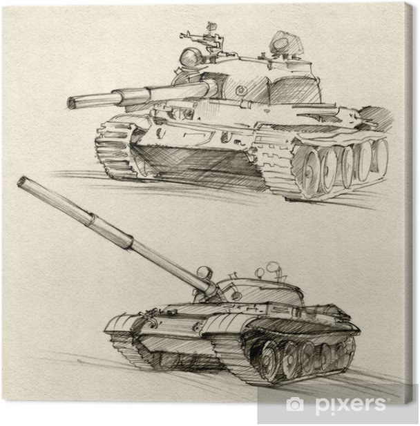 The T-54 and T-55 tanks Canvas Print - Themes