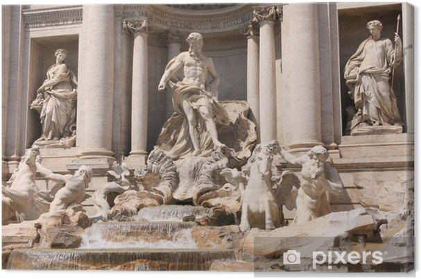 The Trevi Fountain in Rome, Italy Canvas Print - European Cities