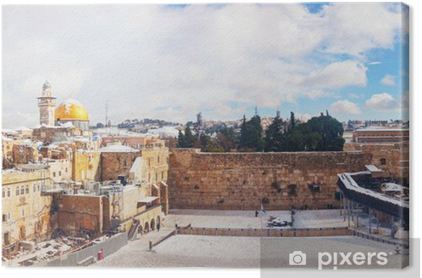 The Western Wall in Jerusalem, Israel Canvas Print - The Middle East