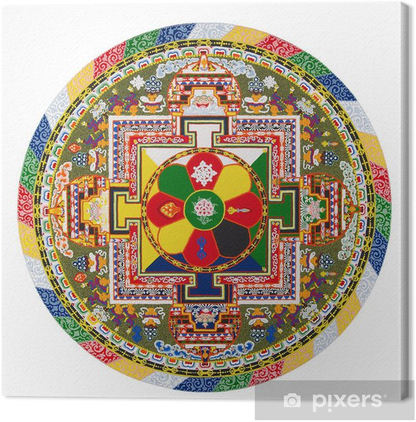 Tibetan mandala Canvas Print - Wall decals