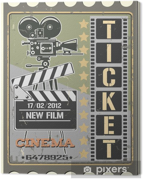Ticket in cinema Canvas Print - Themes