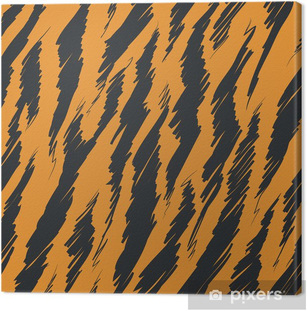 Tiger Stripes Skin Seamless Pattern Canvas Print - Mammals