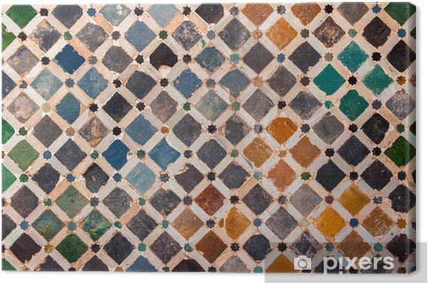 Tile decoration, Alhambra palace, Spain Canvas Print - Backgrounds