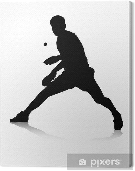 Tischtennisspieler Canvas Print - Matches and Competitions