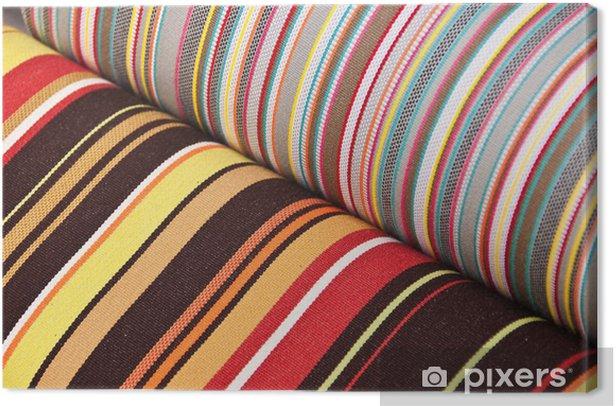 Tissu bayadère Canvas Print - Textures