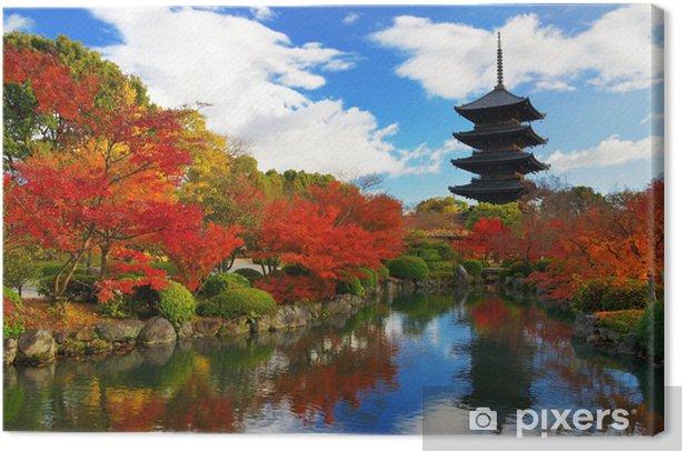 Toji Pagoda in Kyoto, Japan Canvas Print - Themes