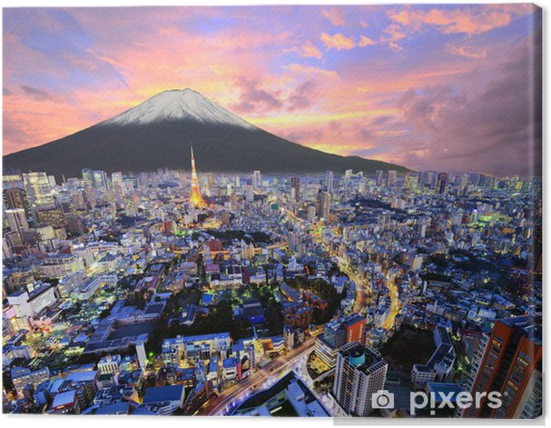 Tokyo and Fuji Canvas Print - Asia