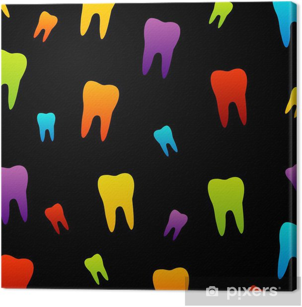 Tooth wallpaper for dentist Canvas Print - Health and Medicine