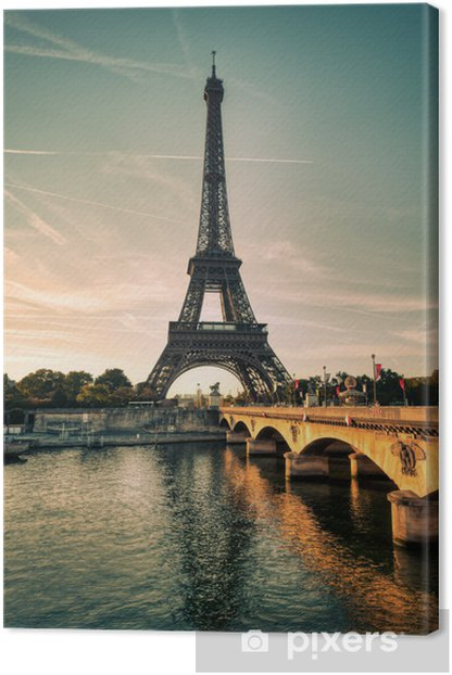 Tour Eiffel Paris France Canvas Print - Themes