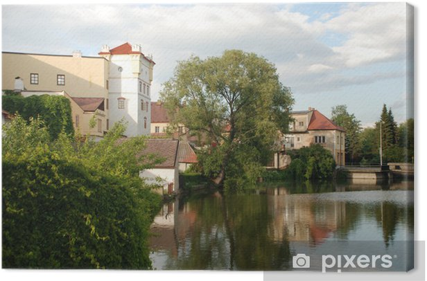 touristic view of Jurdruchuv Hradec, Czhech Republic Canvas Print - Europe