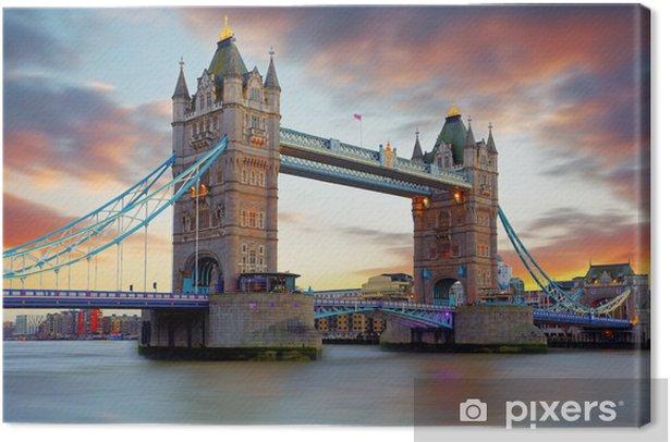 Tower Bridge in London, UK Canvas Print - Themes