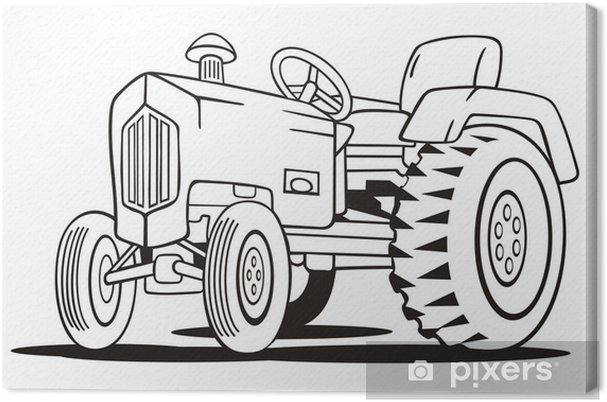 tractor coloring template canvas print pixers we live to change