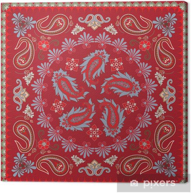 Traditional Paisley Bandana Design Canvas Print - Styles