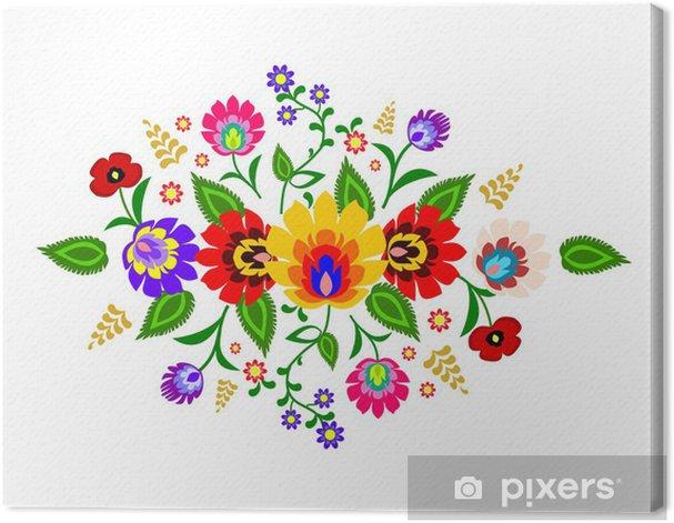 Traditional Polish floral folk pattern vector Canvas Print - Europe