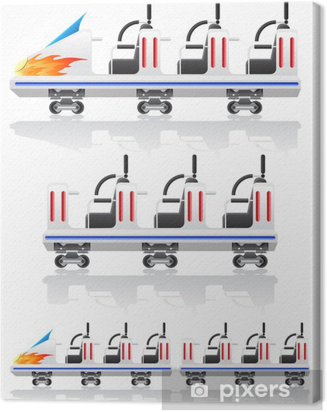 trailers for roller coasters vector illustration Canvas Print - Games