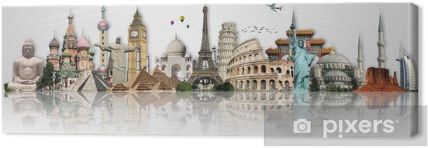 Travel the world monuments concept Canvas Print - Themes