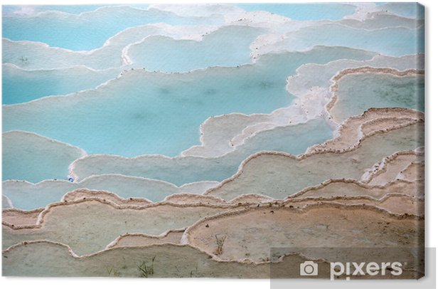 Travertine pools and terraces in Pamukkale Turkey Canvas Print - Europe