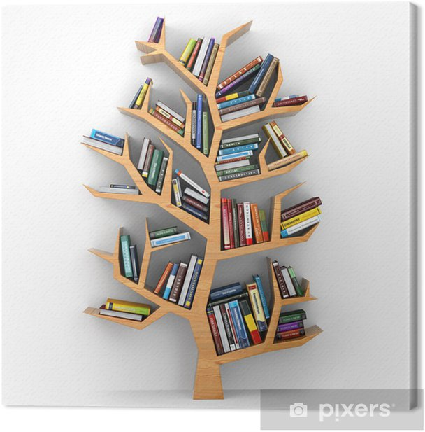 Tree of knowledge. Canvas Print - Lifestyle