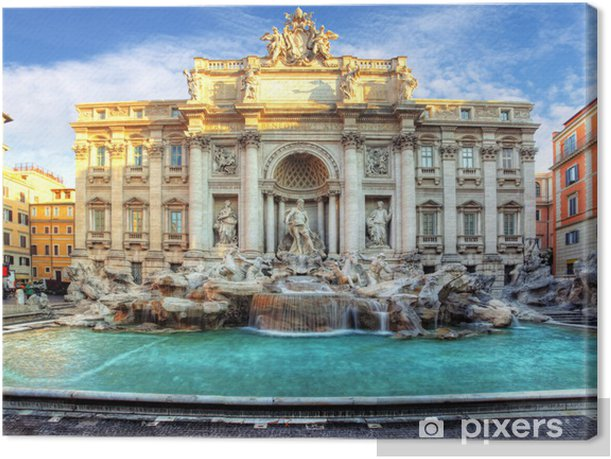 Trevi Fountain, rome, Italy. Canvas Print - Themes