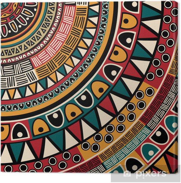 Tribal ethnic background Canvas Print - Styles