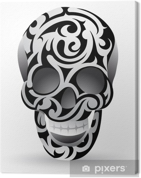 Tribal skull Canvas Print - Backgrounds