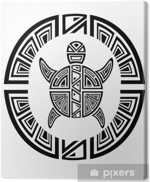 Tribal Tattoo Turtle Canvas Print