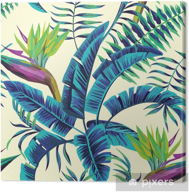 Tropical exotic painting Canvas Print -