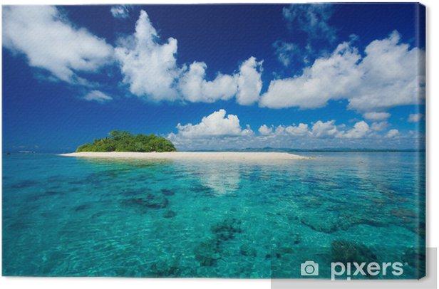 Tropical island vacation paradise Canvas Print - Palm trees