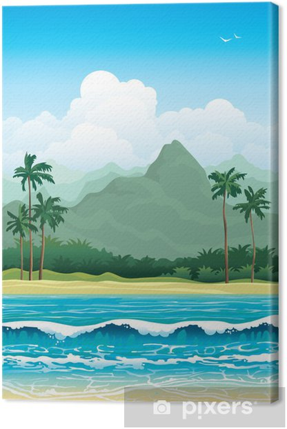 Tropical landscape. Canvas Print - Seasons