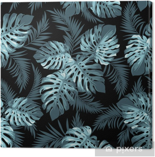 Tropical leaves Canvas Print - Plants and Flowers