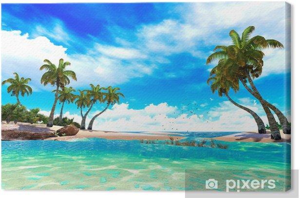 Tropical paradise beach Canvas Print -
