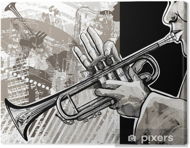 Trumpet player Canvas Print - Jazz