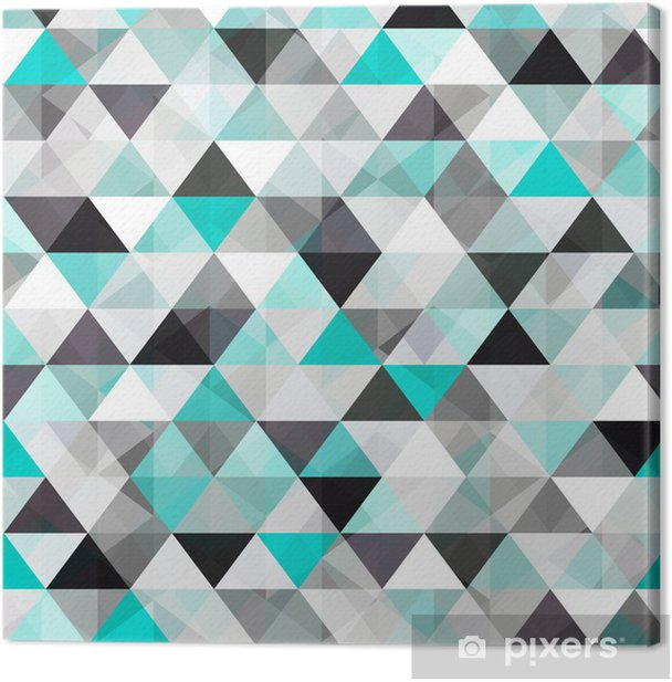 turquoise shiny vector background Canvas Print - Styles