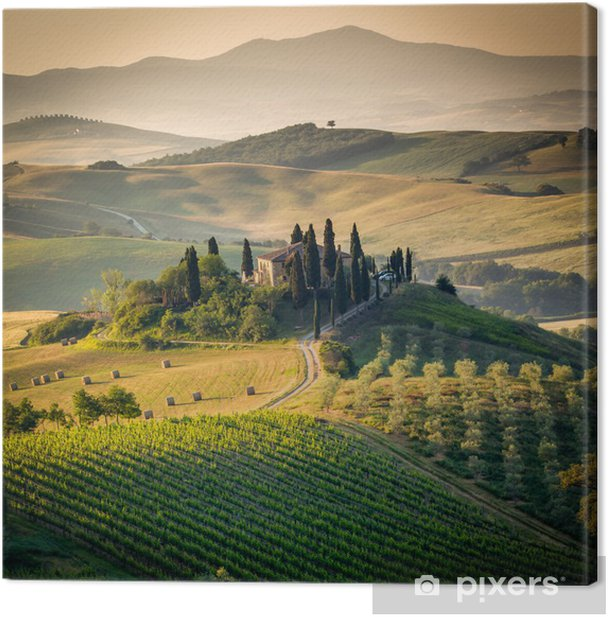 Tuscany, amazing lanscape countryside, Italy Canvas Print - Themes
