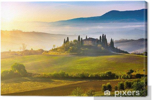 Tuscany at sunrise Canvas Print - Themes