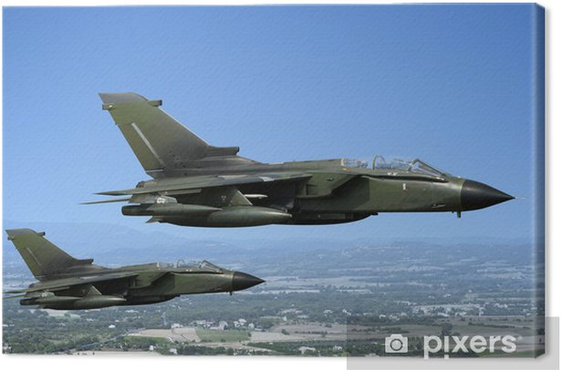 Two fighter jets Canvas Print - Themes