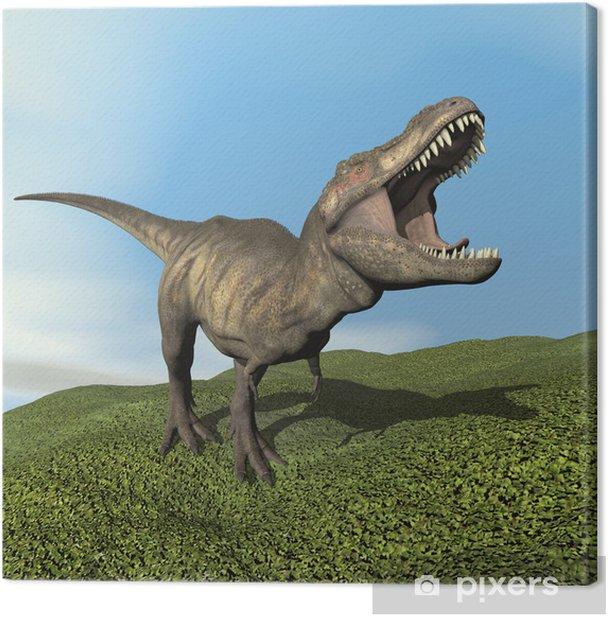 Tyrannosaurus Dinosaur 3d Render Canvas Print Pixers We Live To Change