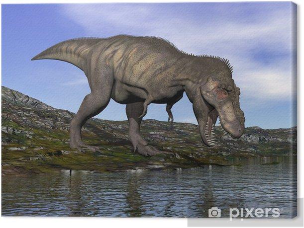 Tyrannosaurus rex dinosaur - 3D render Canvas Print - Themes