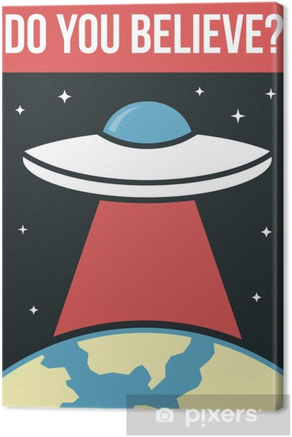 UFO poster Canvas Print - Signs and Symbols