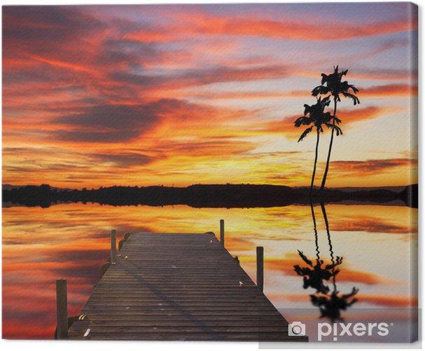 un rincon tropical Canvas Print - Holidays
